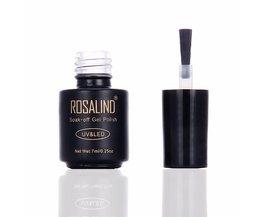 Top Coat Gel Nagellak 7 ML Zwarte Fles langdurige Gel Nagellak UV LED Weken-off multi-use top base Beschermen nagels <br />  Rosalind