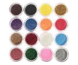 Professionele 16 Gemengde Kleuren Glitter Oogschaduw Oogschaduw Make Shiny Losse Glitter Poeder Oogschaduw Cosmetische Make Up Pigment <br />  MyXL