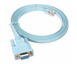 1.8 m 6Ft Voor Cisco Console Kabel RJ45 Cat5 Ethernet om Rs232 DB9 Com-poort Seriële Vrouwelijke Routers Netwerk Adapter Kabel blauw <br />  LEORY