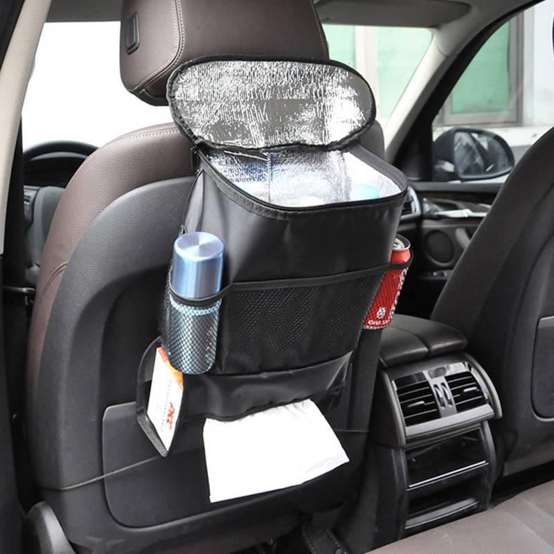 zwarte auto gesoleerde voedsel opbergzakken organisatie auto interieur styling groothandel bulk veel accessoires levert producten arsmundi