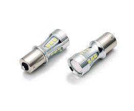 Nanoshine 2 STKS ba15s led 1156 SMD 3030 auto licht sourcing LED P21W S25 voertuig auto achterlicht DRL wit 12 v 24 v <br />  nanoshine
