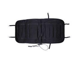 Auto Verwarmde Zitkussen Cover DC12V Verwarming Heater Warmer PadSeat Kussenhoes Verwarming Koolstofvezel Warm voor Winter Zwart Kleur <br />  vvcesidot