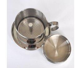 De draagbare rvs Vietnam Koffie Druppelaar filter koffiezetapparaatdrip koffie filter pot filters gereedschap <br />  Ueinsang
