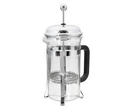 600 ML Franse Pers Koffie Plunger Maker Leaf Karaf Rvs Filter Koffie Pot Koffiezetapparaat Ketel Thee Pot Glas Pot <br />  YKPuii