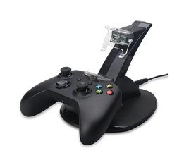 USB LED Snel Opladen Adapter Stand Dock Station voor Dual Xbox One Game Controller <br />  ALLOYSEED