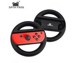 Data Kikker Racing Game Stuurwiel Voor Nintend Schakelaar Afstandsbediening Game Controller Wielen Voor Nintendo Schakelaar NS <br />  DATA FROG