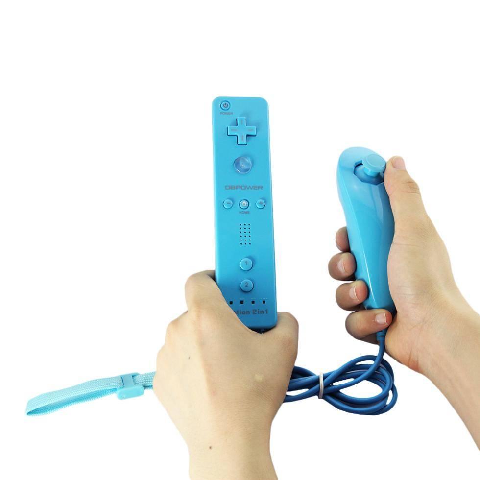 1 SET 2 in 1 Afstandsbediening en Nunchuck Controller met ingebouwde Motion Plus Voor Wii   ViGRAND
