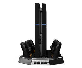 Verticale Game Console Stand Cooler Dual 4x USB Gamepad Gamepad Charger Dock Stand voor Playstation 4 PS4 Controller <br />  ALLOYSEED