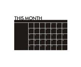 1 STKS Maandelijkse Schoolbord Krijtbord Blackboard Verwijderbare Muursticker DIY Maand Plan Kalender Memo Stickers 60 cm x 92 cm <br />  youe shone