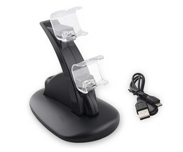 Game Controller Dock Station Charger Oplader Dual GamePad Joystick Voeding Houder voor PlayStation 4 PS4 <br />  ALLOYSEED