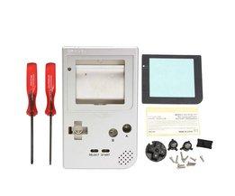1 Set Zilver Volledige Onderdelen Behuizing Shell Case Cover Met Accessoires Voor Nintendo Game Boy Voor Pocket Merk<br />  ShirLin