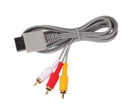 1.8 m Audio Video Av-kabel Game Console Composiet 3 RCA Video kabel Koord Draad Belangrijkste 480 pvoor Nintendo Wii Console  <br />  <br />  ALLOYSEED