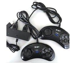 2 Spelers Controller OTG USB Adapter voor SEGA GENESIS MD voor STOOM, Androi-d, PC <br />  xunbeifang