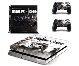 Tom Clancy&#039;s Regenboog Zes Siege PS4 Skin Sticker Decal Vinyl Voor Sony PS4 PlayStation 4 Console en 2 Controller Stickers <br />  Yolouxiku