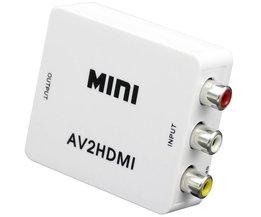Mini Composiet VCBS om AV2HDMI Audio Converter RCA/AV naar HDMI Man-vrouw Adapter Converter Switch Box 720 P 1080 P <br />  wiistar