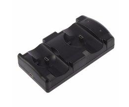 Dual Laders USB Dual Opladen Aangedreven Dock Charger voor PlayStation 3 Sony voor PS3 Controller &amp; Move Navigatie Groothandel <br />  MyXL