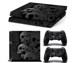 Ps4 huid SchedelStijl Skin Sticker Cover Voor play station 4 Voor Playstation 4 PS4 Console en Cover Decals Van 2 Controllers <br />  MyXL