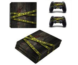 Delict Niet Cross PS4 Pro Skin Sticker Decal voor sony ps4 playstation 4 pro console en 2 controllers Stickers <br />  Yolouxiku
