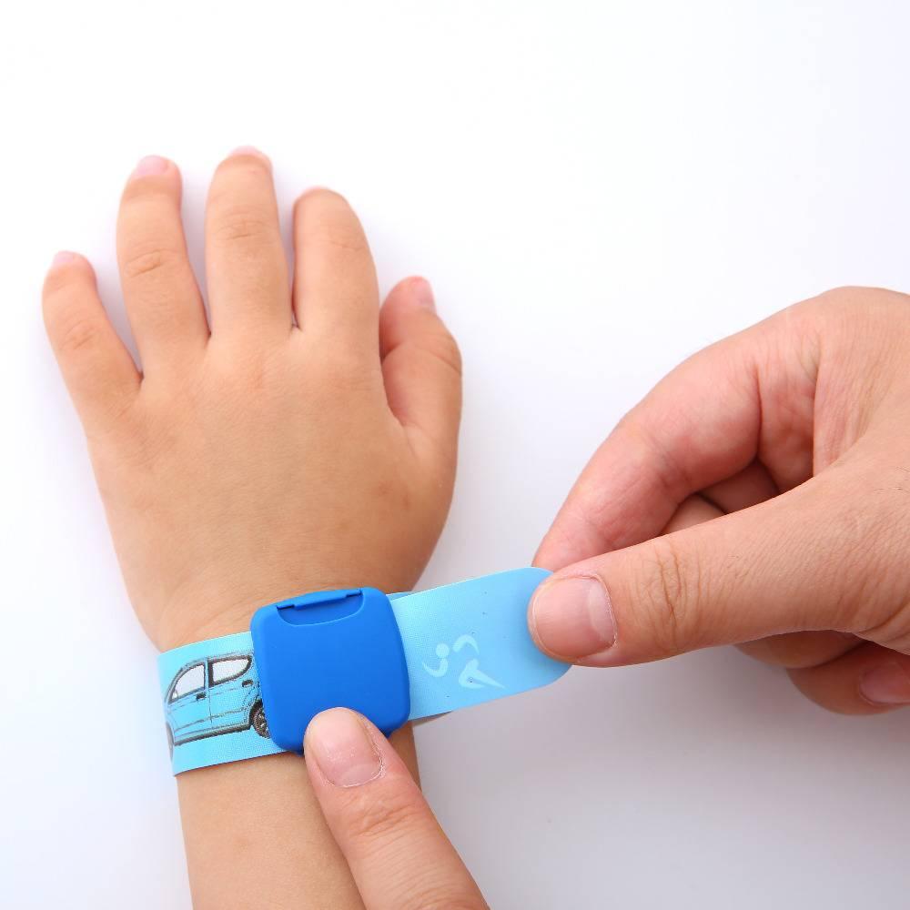Bekend Kinderen Reuseable Identiteit Polsband Kids SOS ID Wrist Band Kind #GA94
