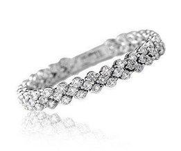 ontwerp shiny romantische cubic zirkoon 925 sterling zilveren ladies&#039;bracelets vrouwen sieradendrop verzending <br />  V-best