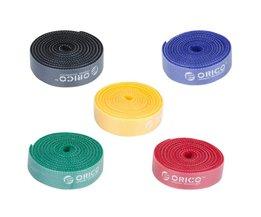 CBT Plastic Nylon Kabel Mark Kleurrijke Banden 1 m Per Stuk rood/Zwart/Geel/Blauw/Groen voor Draad Organizer <br />  Orico