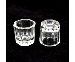 Crystal Cup voor Manicure Acryl Vloeistof Poeder Glas Dappenglaasje Acryl Liquidglassl Nail Gereedschap Acryl Vloeistof Poeder Kits GJ0008 <br />  Aafke