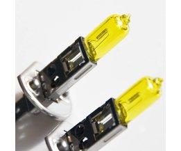2 STKS H1 Halogeenlamp Geel 12 V 55 W 3000 K Xenon Bright Quartz Glas Auto Koplamp Mistlamp Auto Lamp <br />  flytop