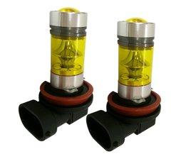 2 stksH8 H11 4300 K Geel LED Auto Mist Lamp High Power 100 W Auto Driving Projector Dagrijlicht DRL <br />  movflax