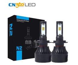 2 STKS H7 LED CSP Chip Auto Gloeilampglas 8000LM Fog Lamp 6000 K 12 V 72 W Mini Witte Plug &amp; Play Met Cooling Fan <br />  CN360