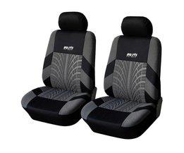 Koop Front Auto Stoelhoezen Universal Fit Tire Track Detail Voertuig Ontwerp Seat Beschermende Interieur Accessoires <br />  AUTOYOUTH