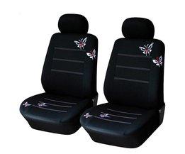 Autostoel Front Cover Vlinder Decoratie Stijl Universele Fit Meest Autozetel Bescherming Covers Interieur Seat Accessoires <br />  MyXL