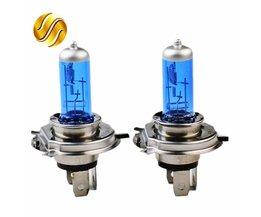 Flytop 2 STKS 12 V 60/55 W H4 Halogeenlamp 5000 K Auto Halogeenlamp Xenon Donkerblauw glas Super Wit <br />  flytop
