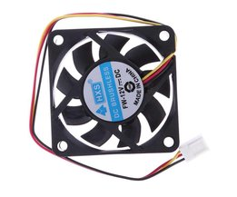 Draagbare Fan Kogellager 12 V 3 Pin Connector P4 60mm Computer Cooler Kleine Koelventilator PC Zwart F koellichaam <br />  VODOOL
