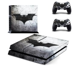 Ps4 batman sticker vinyl decal beschermende huid cover voor sony ps4 console en 2 dualshock controllers <br />  MyXL