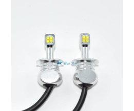 2 Stks Auto koplamp 80 w H3 led Wit 3000lm led Mistlamp Head Lamp LED Automobiel koplamp lampen <br />  DayWalker