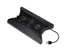1 Pcs Dual Charging Dock Station Stand Base 3 USB Power HUB Port Cooling Fan Cooler For Playstation PS4 Pro Console <br />  VODOOL