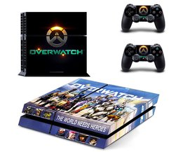 Voor Overwatch PS4 Skin Sticker Decal Vinyl Voor Sony PS4 PlayStation 4 Console en 2 Controller Stickers <br />  Yolouxiku