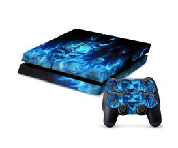 Individualiteit Fire Skull Vinyl Decal Waterdicht PS4 Huid PS4 Sticker voor Sony PlayStation 4 en 2 Controller Skins PS4 Stickers <br />  MyXL