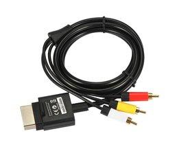 1.8 m 6ft audio video av rca video composiet kabel av-kabel koord voor microsoft xbox 360 slim voor xbox 360 <br />  ALLOYSEED