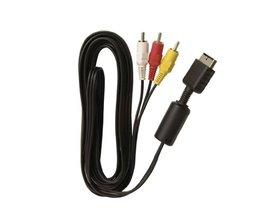 Speciale Aanbieding 1.5 m HD AV Video Adpater en Audiokabel montage kabel cord voor sony voor playstation ps2 voor ps3 HDTV <br />  ShirLin