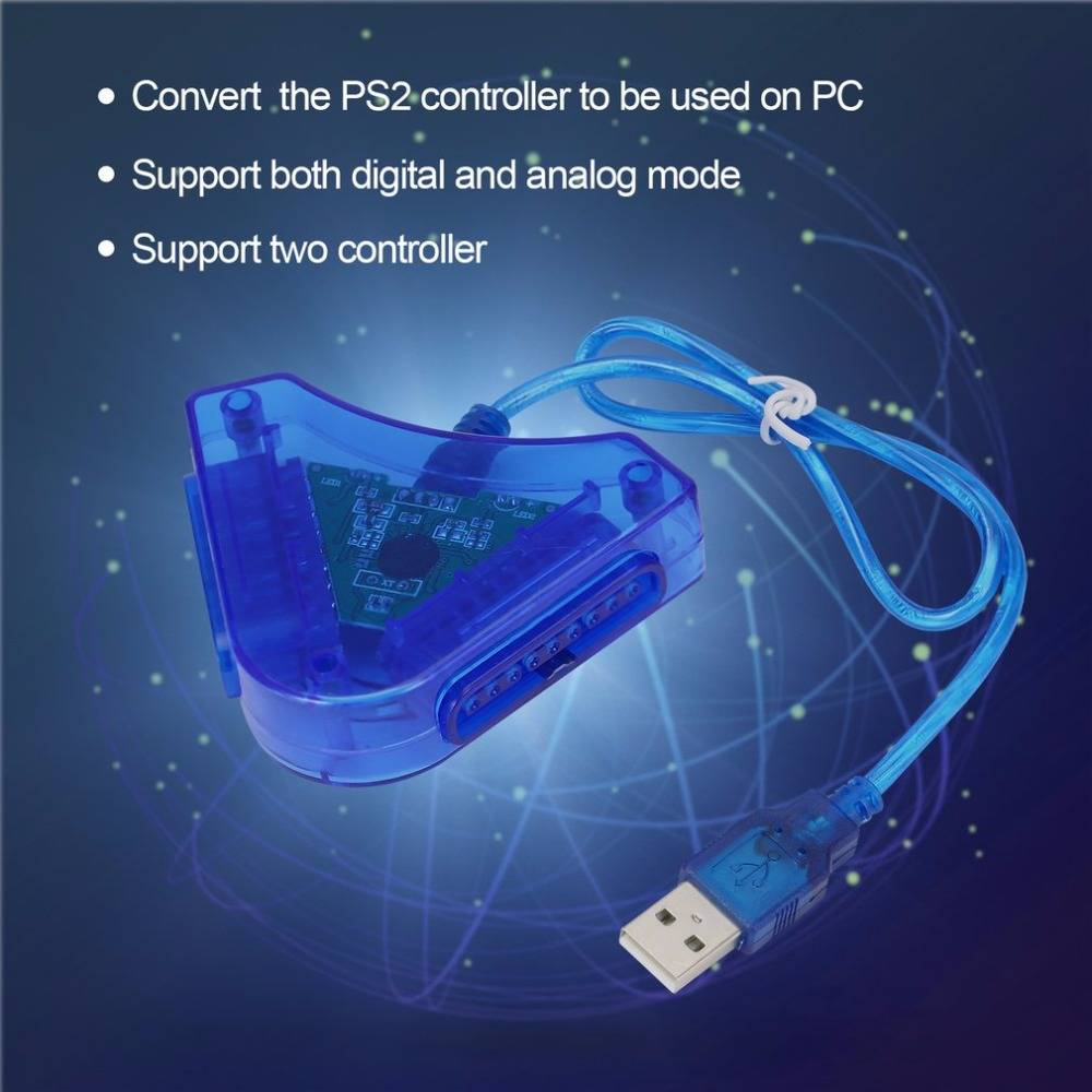 Joypad Game USB Dual Player Converter Adapter Kabel Voor PS2 ...