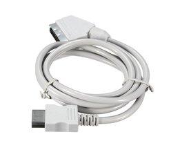 176 cm Lengte US/EU Plug Voor WII RGB Scart Kabel Lead Koord Voor Nintendo Voor Wii Games Console accessoires <br />  ShirLin