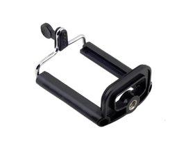 1 ST Aluminium Mobiele Telefoon Houder beugel Adapter Clip Voor Camera Statief voor iPhone Voor Samsung voor HTC smartphone <br />  OXA