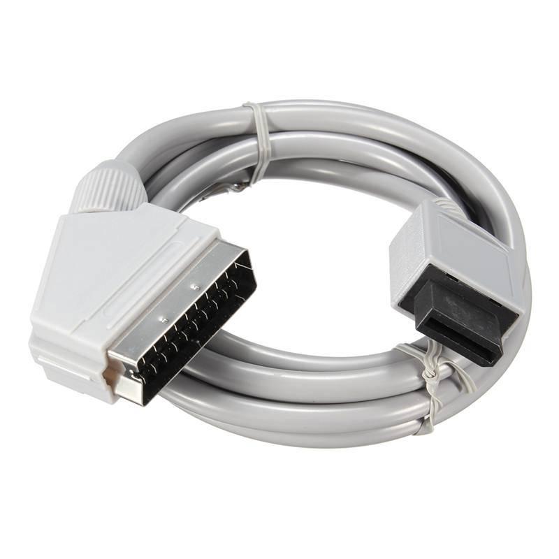 1.76 m Lengte Voor WII RGB Scart Kabel Lead Koord Voor Nintendo Voor Wii Games Console Accessoires U