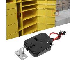Professionele Elektromagnetische Elektrische Controle Lock DC 12 V 2A Kast Lade Sloten Met Detectie Schakelaar Duurzaam Groothandel <br />  MyXL