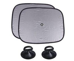 2 Stks Autoruit Zonnescherm Glas Zuignappen Auto-accessoires Side Window Visor Zonnescherm Vizieren Shield Cover <br />  AUMOHALL