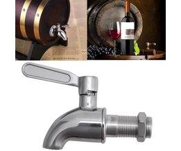 Rvs Drank Dispenser Wijn Vat Spigot/Tap M16 Ronde