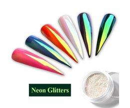 Neon Glitter Eenhoorn Magische Spiegel Nail Poeder 0.2g ultradunne Mermaid Aurora Chrome Pigment Manicure DIY Nail Art decoraties <br />  Misscheering