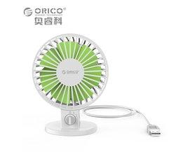 UF1-WH USB Fan Flexibele USB Draagbare Mini Ventilator voor Notebook Laptop Power met Sleutelschakelaar Hoek verstelbare-wit <br />  Orico