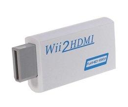 Voor Wii naar HDMI Wii 2 HDMI Adapter Converter HD 1080 P Output Upscaling 3.5mm Audio Video-uitgang Ondersteuning Wii Display naar HDMI 1080 P <br />  Suntaiho